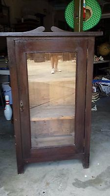 Old Display / Book Cabinet Solid Silky Oak with Glass