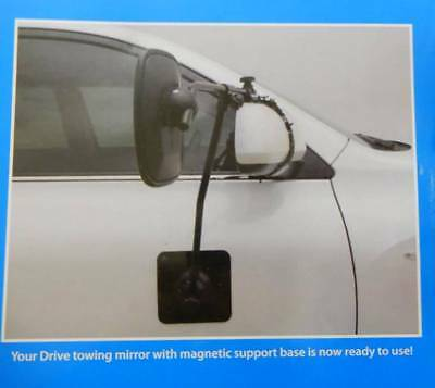 """""""drive"""" Towing Mirror With Magnetic Support Pad (Single Mirror) - For Caravans"""