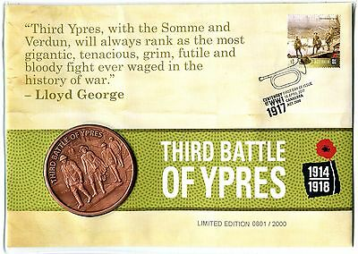 2017 Centenary Of WW1 Third Battle Of YPRES Limited Edition Medallion PNC, #0801