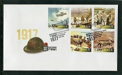 2017 Centenary Of WW1 1917 Set Of 5 Standard Issue FDC, Recent Issue, New