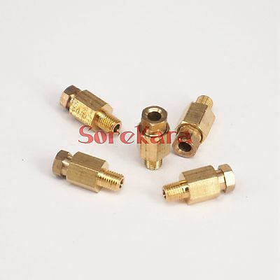 LOT5 M6 Male x 4mm Brass Connector Machine Tool Oil Filter Canister Lube Tubing