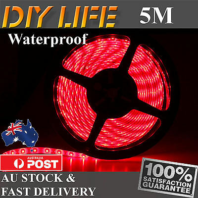 5M Waterproof 12V Red3528 SMD 300 LED Strips Led Strip Lights car boat