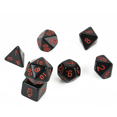 7pcs/ Set Dice TRPG Game Dungeons&Dragons D4-D20 Multi Sides Dice Gift