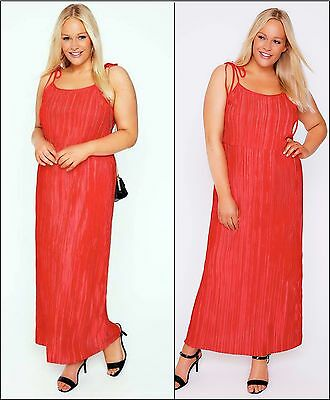 Womens Ladies long orange summer MAXI day evening casual DRESS plus size 30/32