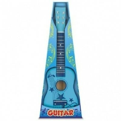 Toyrific Childrens 60cm Wooden Guitar - Blue. Shipping is Free