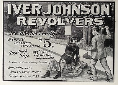 1904 Ad (F20)~Iver Johnson Revolvers, Arms & Cycle Works, Fitchburg, Mass.