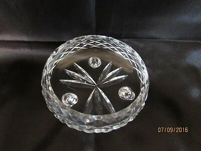 Lovely Vintage Cut Glass footed Bowl