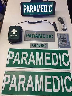 Paramedic vehicle set LED Univisor magnet first aid kit Bundle