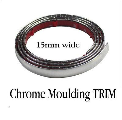 Silver Chrome Styling  Moulding Trim Strip For Cars  Vehicles  SUV 8M 15mm Wide