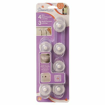Dreambaby Child Safety 7 Piece Multipurpose Latch Pack