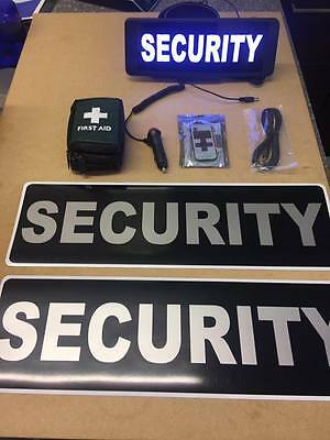 Security vehicle set LED Univisor magnet first aid kit Bundle