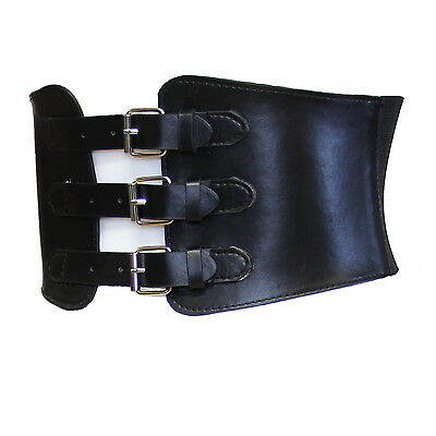 Zac's Alter Ego® 15.2cm Black Triple Buckle Elasticated Waist Corset Belt