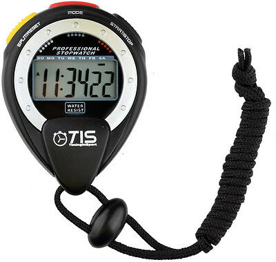 TIS Pro 025 Stopwatch Large Scale Display Water & Shock Resistant Timer Watch