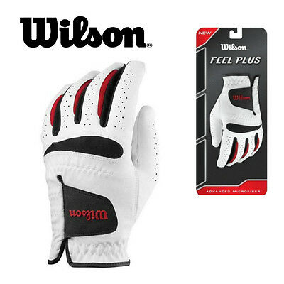 Wilson Feel Plus Golf Glove Mens Left-Hand Glove For Right Handed Golfers - New
