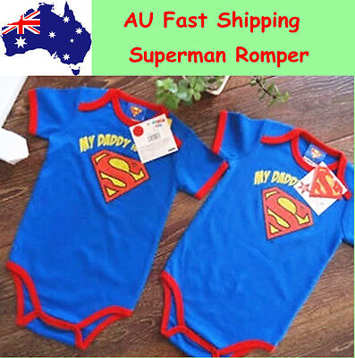 New Toddler Baby Romper Jumpsuits One-Piece Outfits Clothing Superman