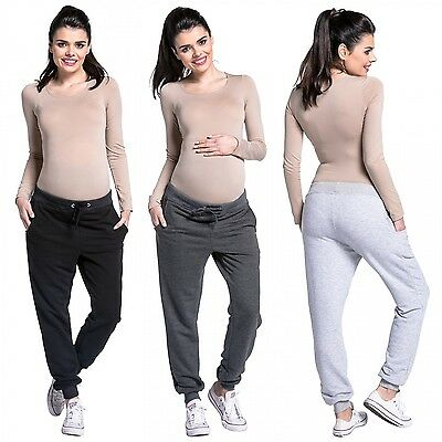 Zeta Ville - Women's pregnancy pants trousers stretch cuffs sweatpants - 668c