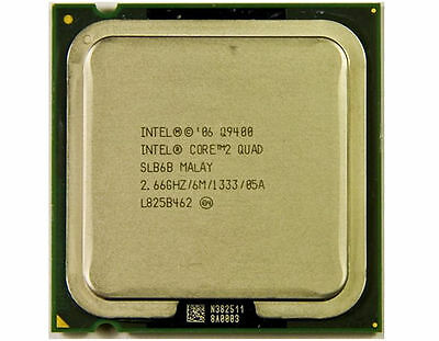 Intel Core2 Quad CPU Q9400 Socket LGA775 2.66GHz 6M Cache Desktop Processor