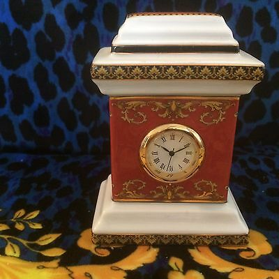 "Versace Rosenthal Mini Clock In Medusa Red ""no Box"""