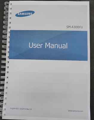 ~PRINTED~ Samsung Galaxy A3  A300FU manual user guide COLOUR A4 or A5