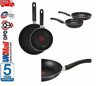 BRAND NEW Tefal A157B245 Taste Twin Pack Frying Pans, 20cm and 28cm Black