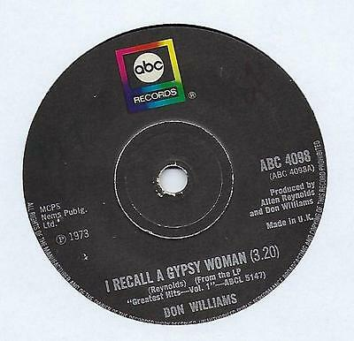 "Don Williams - I Recall A Gypsy Woman - 7"" Single"