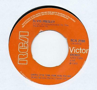"""Elvis Presley - Until It's Time For You To Go - 7"""" Single"""