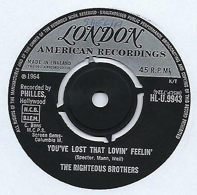 """The Righteous Brothers - You've Lost That Lovin' Feelin' - 7"""" Single"""