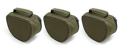 2 or 3 XL Padded Green Reel Cases Bag Carp Pike Fishing Fits Big Pit Reels NGT