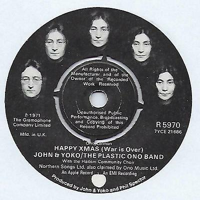 "John & Yoko - Happy Xmas (War Is Over) - 7"" Single"