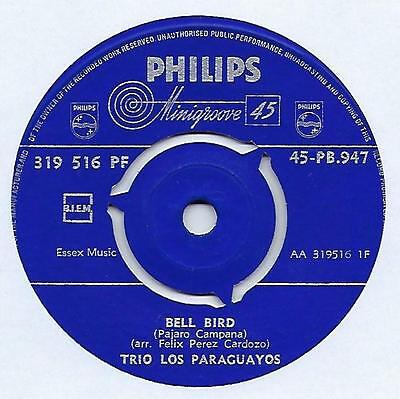 "Trio Los Paraguayos - Bell Bird - 7"" Single"