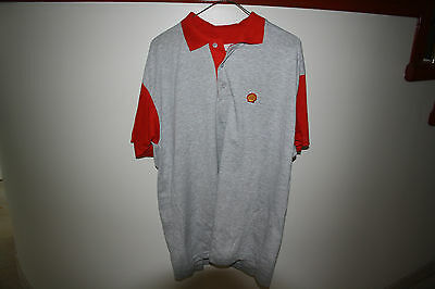 Shell Oil Uniform Gray Shirt Large