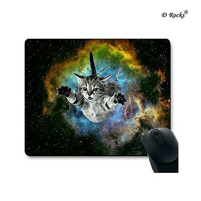 9 Inch x 7.5 Inch Mouse Pad The Story Between Cat And Space (Flying Cute Cat)