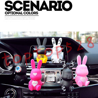 Baby Rabbit Auto Car Air Condition Freshener Outlet Perfume Scent Clip Onaments