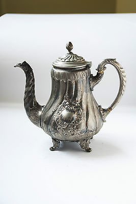 Antique Teapot Silver Plated alpaca  19 th century