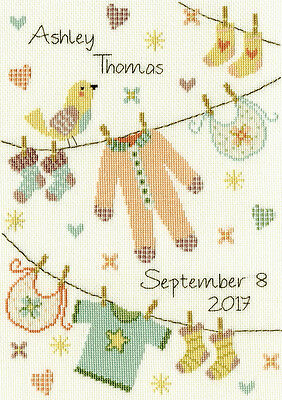 Bothy Threads Baby Grow Birth Sampler Counted Cross Stitch Kit Xnb4