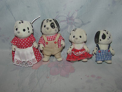 Calico Critters Dalmatian Dog Family of 4 - 2 Adults, 2 Kids - Wear To Ears