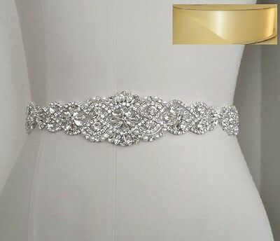 Wedding Bridal Sash Belt, Crystal Pearl Wedding Dress Belt = IVORY satin sash