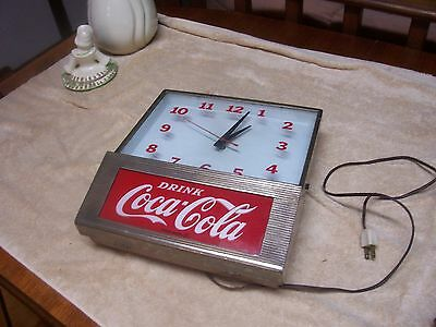 "VINTAGE 11""X 12"" 1960  Metal & Glass SYNCHRON WALL CLOCK"