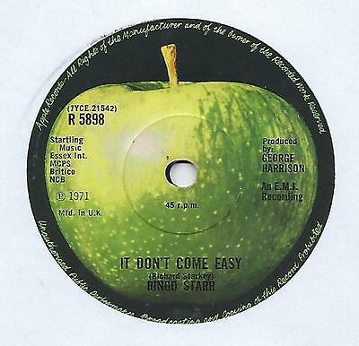 "Ringo Starr - It Don't Come Easy - 7"" Single"