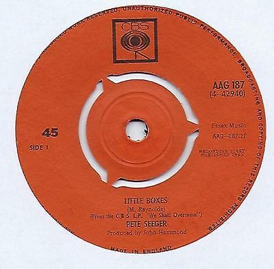 "Pete Seeger - Little Boxes - 7"" Single"