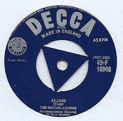 "The Southlanders - Alone - 7"" Single"