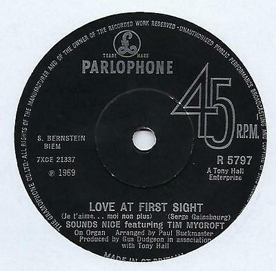 "Sounds Nice - Love At First Sight - 7"" Single"