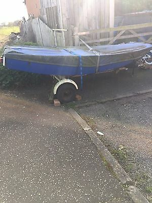 mirror dinghy For Sale Includes Trailer And Everything.OPEN TOO OFFERS.