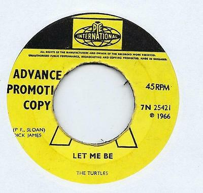 "The Turtles - Let Me Be - Promo - 7"" Single"