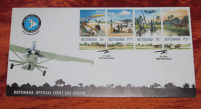 Botswana Official First Day Cover - Flying Mission 20th Anniversary - 2000