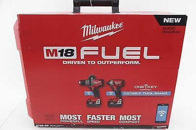 NEW Milwaukee 2796-22 ONE KEY M18 Fuel 2-Tool Hammer Drill & Impact Driver Combo