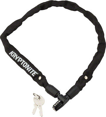 Kryptonite Keeper 465 Chain Lock with Key: 2.13' x 4mm Black