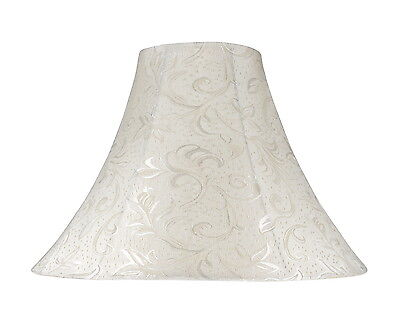 """Aspen Creative 30020 Bell Spider Lamp Shade Off White 6""""x16""""x12"""""""