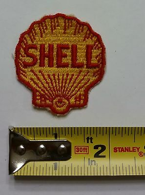 VINTAGE Embroidered Automotive Gasoline Patch (Original-UNUSED) SHELL Small