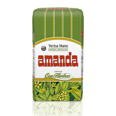 Amanda Yerba Mate Tea With Herbs 500g - Produced in Argentina